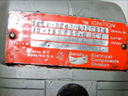 Red Bendix data plate